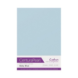 Baby Blue - Glanskarton A4 310 grams - 10 vel - Centura Pearl