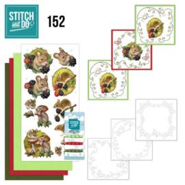 Stitch and Do 152 - set voor 3 borduurkaarten
