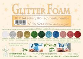 25.2544 Glitter foam sheets A4 Glitter Antique Gold - 4 vellen