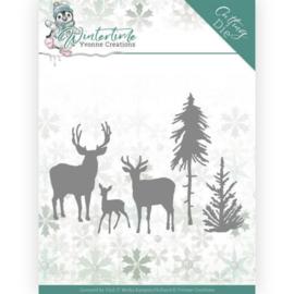 YCD10217 Snij- en embosmal  - Winter Time - Yvonne Creations