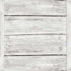 Set van 4 vellen 15.2x15.2 cm Houtstructuur grof whitewash - Craft-O-Clock