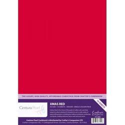 Kerst Rood - Glanskarton A4 310 grams - 10 vel - Centura Pearl