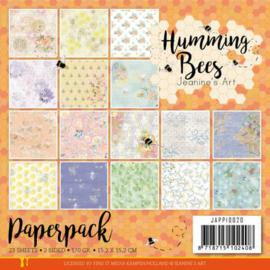 JAPP10020 Paperpad - Humming Bees - Jeanines Art