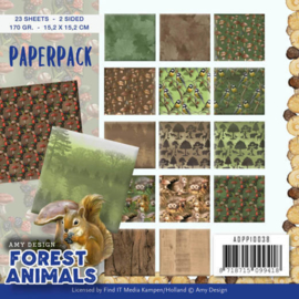 ADPP10038 Paperpad - Forest Animals - Amy Design