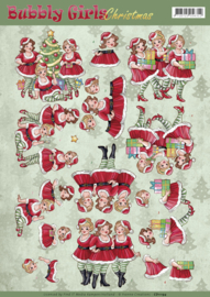 CD11194 Bubbly Girls - Christmas - Yvonne Creations