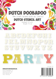 470.990.112 Alphabeth 4 Art Stencil - Dutch Doobadoo