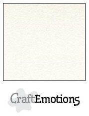 Fluweelkarton 30.5x30.5cm - Wit - 250 grams - 10 vel - Craft Emotions   -  PAKKETPOST!!!