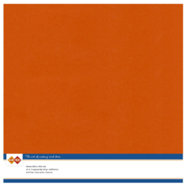 59 Autumn Oranje - Linnen Kaarten 30,5 x 30,5cm - 10 stuks - 200 grams - Card Deco - PAKKETPOST!!