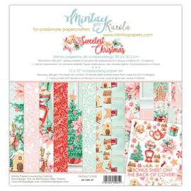 Paperpad 30.5x30.5cm - The Sweetest Christmas - Mintay * PAKKETPOST *