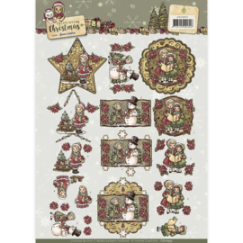 CD10955  3D vel A4  - Celebrate Christmas - Yvonne Creations