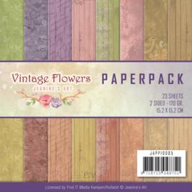 JAPP10005 Paperpad - Vintage Flowers - Jenine's Art