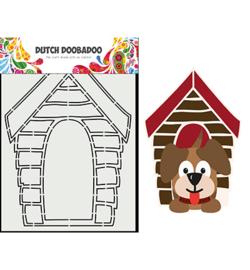 470.713.868 - Card Art Hondenhok - Dutch Doobadoo