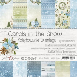 Papierbloc 20.5 x 20.5 - Carols in the Snow - Craft o Clock