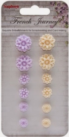 SCB250001092 Resin Flowers