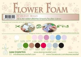 25.5121 Flower foam sheets A4 0.8mm. Brown -per stuk