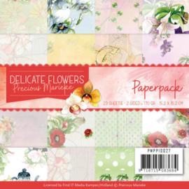 PMPP10027 Paperpad - Delicate Flowers - Marieke Design