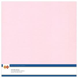 15 Licht Roze  - Linnen Karton 30,5 x 30,5cm - 10 stuks - 200 grams - Card Deco - PAKKETPOST!!