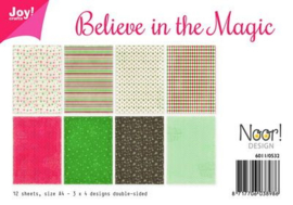 6011-0532 Papierset A4 - Believe in the magic - Joy Crafts