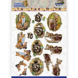 CD11647 3D vel A4 - Forest Animals - Amy Design