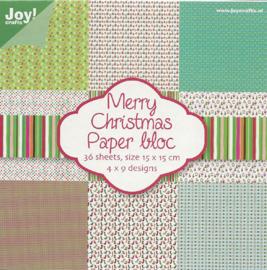 6011/0018 Paperpad 15x15cm a 36 vel - Kerst - Joy Crafts