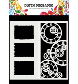 470.784.005 - Mask Art Slimline Clocks - Dutch Doobadoo