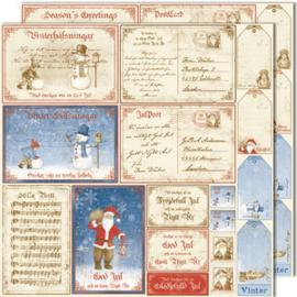 486 Scrappapier dubbelzijdig - Vintage Winter - Maja Design