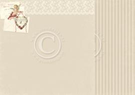 PD6809 Scrappapier dubbelzijdig - To My Valentine - Pion Design