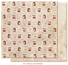 872 Scrappapier dubbelzijdig - I Wish - Maja Design
