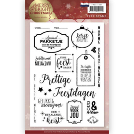 PMCS10034 Clearstempel  - Kerst Tekst NL - Precious Marieke