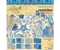 4502015 Paperpad 8x8inch - Ocean Blue - Graphic45