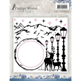 ADEMB10008 Embos en snijmal - Vintage winter - Amy Design