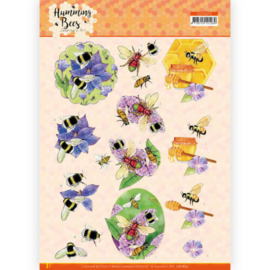 CD11673 3D vel A4 - Humming Bees - Jeanines Art