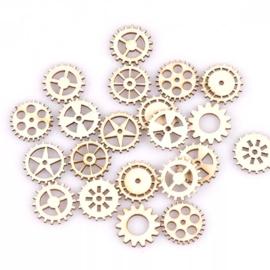Houten figuurtjes - Tandwielen - 50 stuks