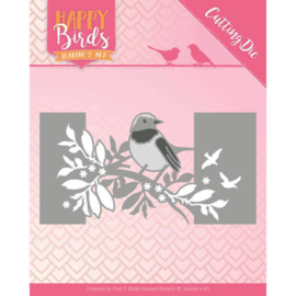 JADD10087 Snij- en embosmal - Happy Birds - Jeanine's Art