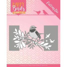 JADD10087 Snij- en embosmal - Happy Birds - Jeanine's Art