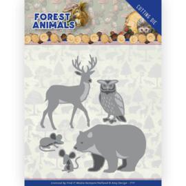 ADD10233 Snij- en embosmal - Forest Animals - Amy Design