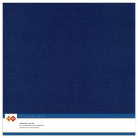 30 Donkerblauw - Linnen Karton 30,5 x 30,5cm - 10 stuks - 200 grams - Card Deco - PAKKETPOST!!