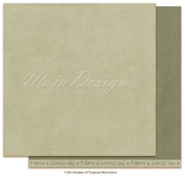 1169 Scrappapier dubbelzijdig Monochromes  -  Tropicial Garden - Maja Design
