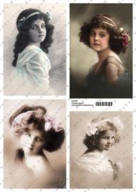 GH3356 Vintage vel - Vintage (4 plaatjes) - Gerda's Hobbyshop