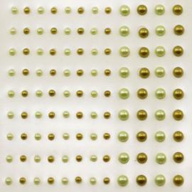 Plakparels 3 en 5mm - Olijf en Mint - 108stuks - Vaessen