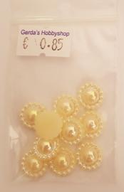 Parelbloem 10mm - Champagne AB - 10 stuks