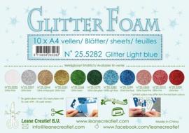 25.5282 Glitter foam sheets A4 Glitter Light Blue - per vel
