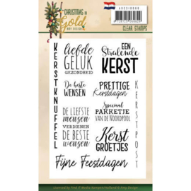 ADCS10060 Clearstempel Tekst NL - Christmas Gold - Amy Design