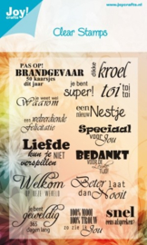 6410-0013 Clearstempel - Tekst NL - Joy Crafts