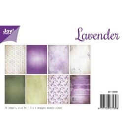 6011/0501 Paperbloc A4 a 12 vel - Lavender - Joy Crafts