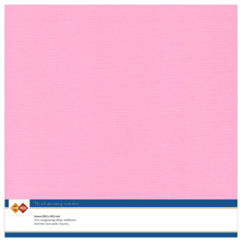 16 Roze - Linnen Karton 30,5 x 30,5cm - 10 stuks - 200 grams - Card Deco - PAKKETPOST!!