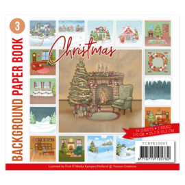 YCBPB10003 Background Paper Book 3 - Yvonne Creations - Christmas