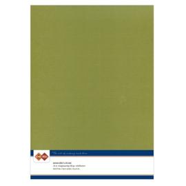 46 Olijf Groen - Linnen Karton A4 - 10 stuks - 200 grams - Card Deco