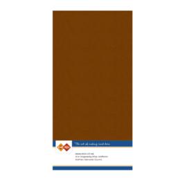 58 Brown - Linnen Kaarten 4 kant 13.5x27cm - 10 stuks - 200 grams - Card Deco