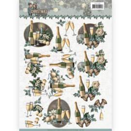 CD11148  3D knipvel A4  - Christmas Wishes - Amy Design